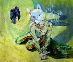 The Golden Bird (3) | Rebecca Holden 2015 | Oil on paper | SOLD