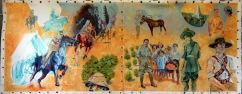 Battle of Ayun Kara/NZMR Welcomed in Rishon LeZion | oil on canvas | 2017 | 3m (w) x 1.3m (h)
