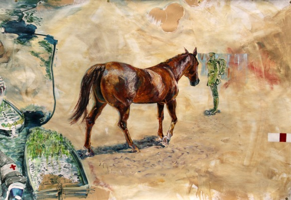 Detail: 'Being reunited with his horse in the desert' | Sand in the Apricot Jam | Rebecca Holden, 2014