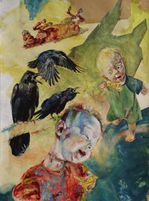 Faithful Johannes | Oil on paper |2014 | 990mm (w) x 1330mm (h) | NZ$1800