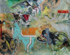 The Boy Who Left Home to Find Out About the Shivers | Oil on paper | 1330mm (w) x 1120mm (h) | POA