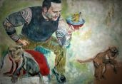 Strong Hans | Oil on paper | 1240mm (w) x 865mm (h) | SOLD