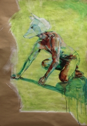 The Golden Bird (2) | Oil on paper | 1330mm (w) | SOLD