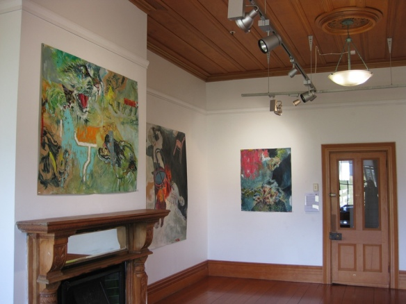 Installation of Retold at Lake House Arts Centre
