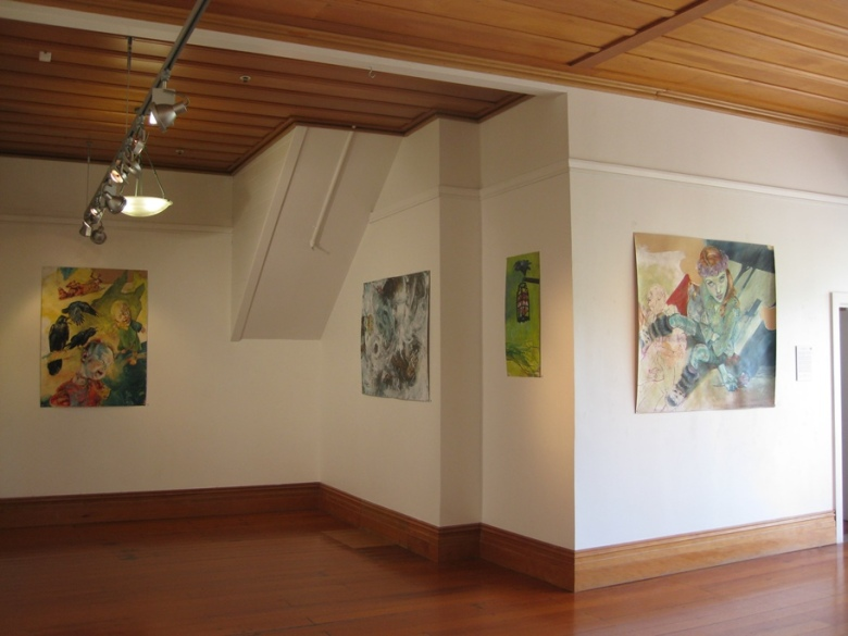 Installation of 'Retold' at Lake House Arts Centre, Takapuna, Auckland NZ