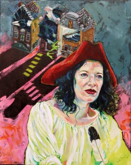 Pirates Write What They Imagine  oil on stretched canvas   2018   400mm (w) x 500mm (h)   NZ$800