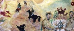 Sinai Campaign |Oil on paper | 2014 | 3m (w) x 1.3m (h)