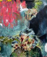 The Devil With the 3 Golden Hairs   oil on paper   2015   880mm (w) x 1060mm (h)   NZ$1250