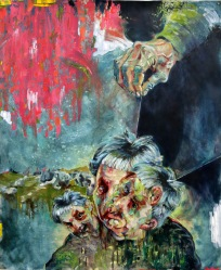 The Devil With the 3 Golden Hairs | oil on paper | 2015 | 880mm (w) x 1060mm (h) | NZ$1250