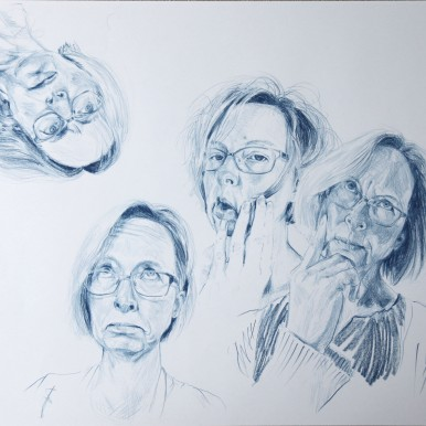 self portrait - artist's expressions 1
